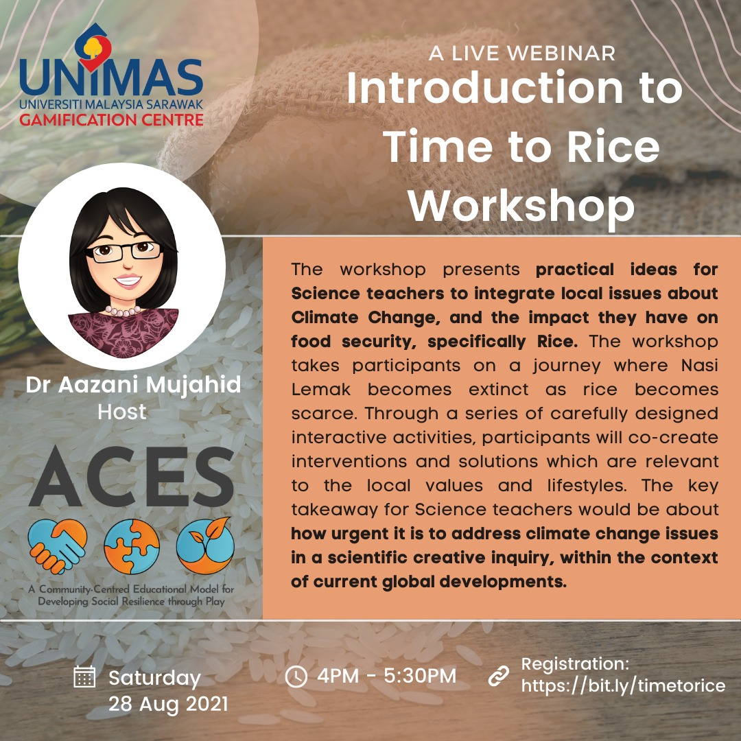 Call for Participation: Introduction to Time to Rice Workshop